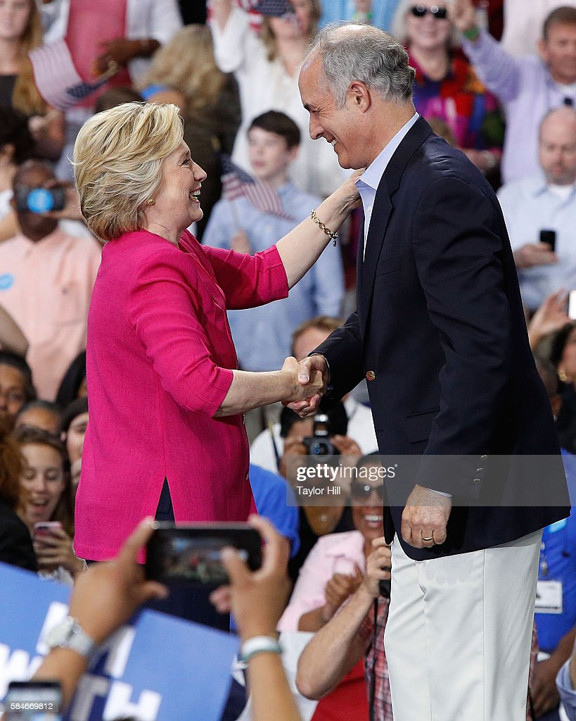 Hillary Clinton And Tim Kaine Rally In Philadelphia, PA