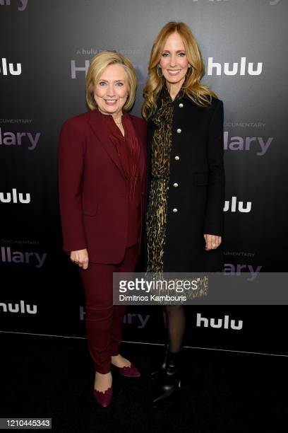 Hillary Clinton and Dana Walden attend the Hillary New York Premiere at Directors Guild of America Theater on March 04 2020 in New York City