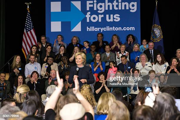 Hillary Clinton at Hillside Middle School on January 22 2016 in Manchester New Hampshire