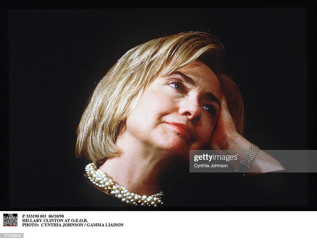 Hillary Clinton At O E O B Photo: Cynthia Johnson / Gamma Liaison : News Photo