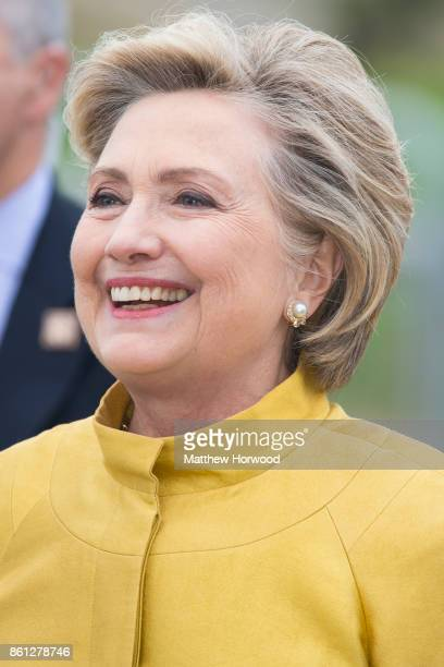 Hillary Clinton at Swansea University where she was given a Honorary Doctorate of Laws on October 14 2017 in Swansea Wales The former US secretary of...