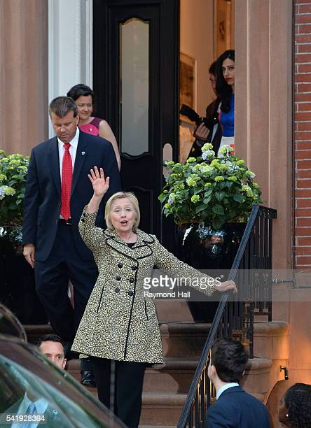 Hillary Clinton attends a Hillary Victory Fund fundraiser at the residence of Harvey Weinstein on June 20 2016 in New York City