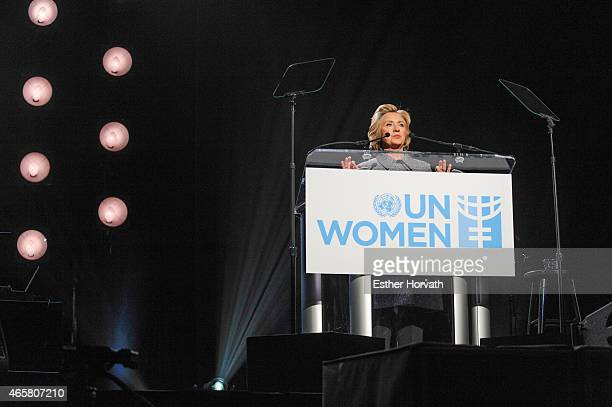 Hillary Clinton attends Step It Up for Gender Equality Celebrates The 20th Anniversary Of The Fourth World Conference On Women In Beijing at...