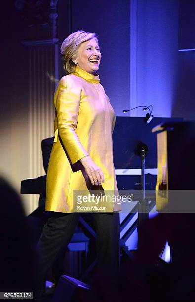 Hillary Clinton attends the 12th annual UNICEF Snowflake Ball at Cipriani Wall Street on November 29 2016 in New York City