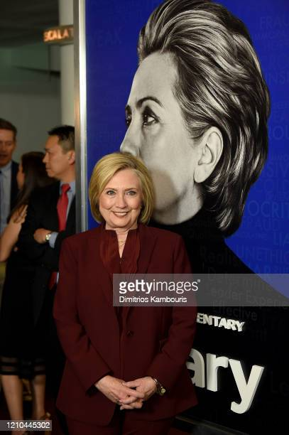 Hillary Clinton attends the Hillary New York Premiere at Directors Guild of America Theater on March 04 2020 in New York City