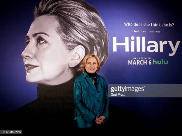"Hillary Clinton attends the ""Hillary"" Reception at 2020 Sundance Film Festival at Kimball Terrace on January 25, 2020 in Park City, Utah."