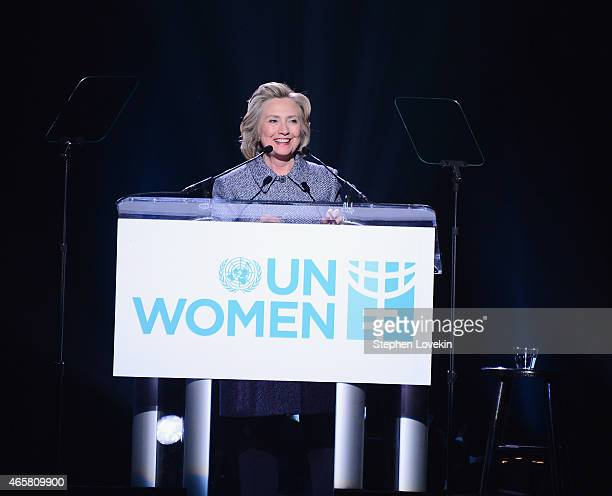 Hillary Clinton attends the Step It Up For Gender Equality event celebrating the 20th anniversary of the fourth World Conference On Women in Beijing...