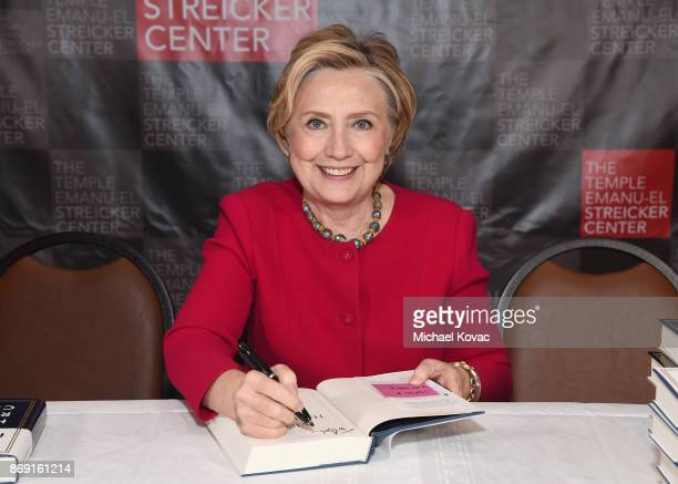Hillary Clinton attends The Streicker Center hosts a Special Evening with Former Secretary of State Hillary Clinton at The Streicker Center on...