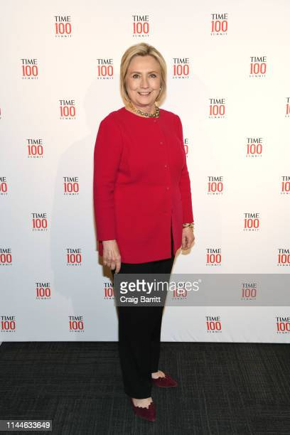 Hillary Clinton attends the TIME 100 Summit 2019 on April 23 2019 in New York City