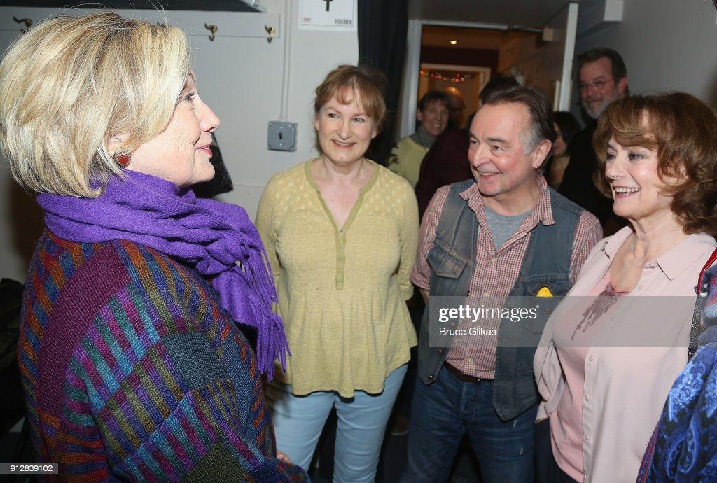 Hillary Clinton, Deborah Findlay, Ron Cook and Francesca