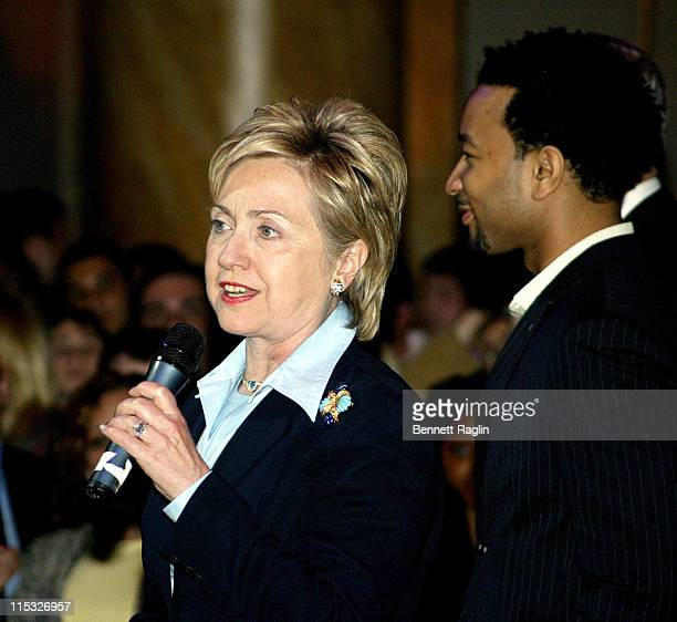Hillary Clinton during Hillary Clinton Fund Raiser with a Performance by John Legend at Capitale in New York New York United States
