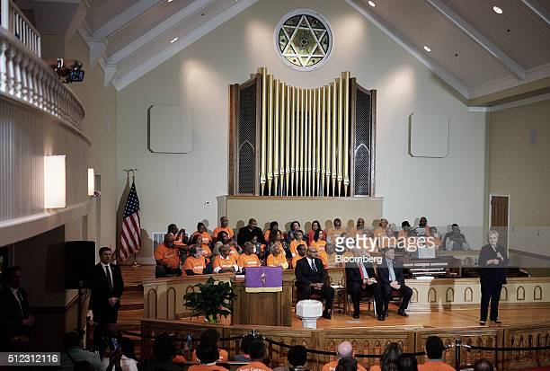 Hillary Clinton former Secretary of State and 2016 Democratic presidential candidate speaks during a town hall event at Cumberland United Methodist...
