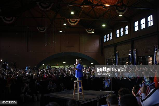 Hillary Clinton former Secretary of State and 2016 Democratic presidential candidate speaks during a campaign event in Louisville Kentucky US on...