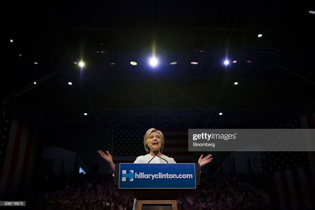 Presidential Candidate Hillary Clinton Holds Primary Night Event In New York : News Photo