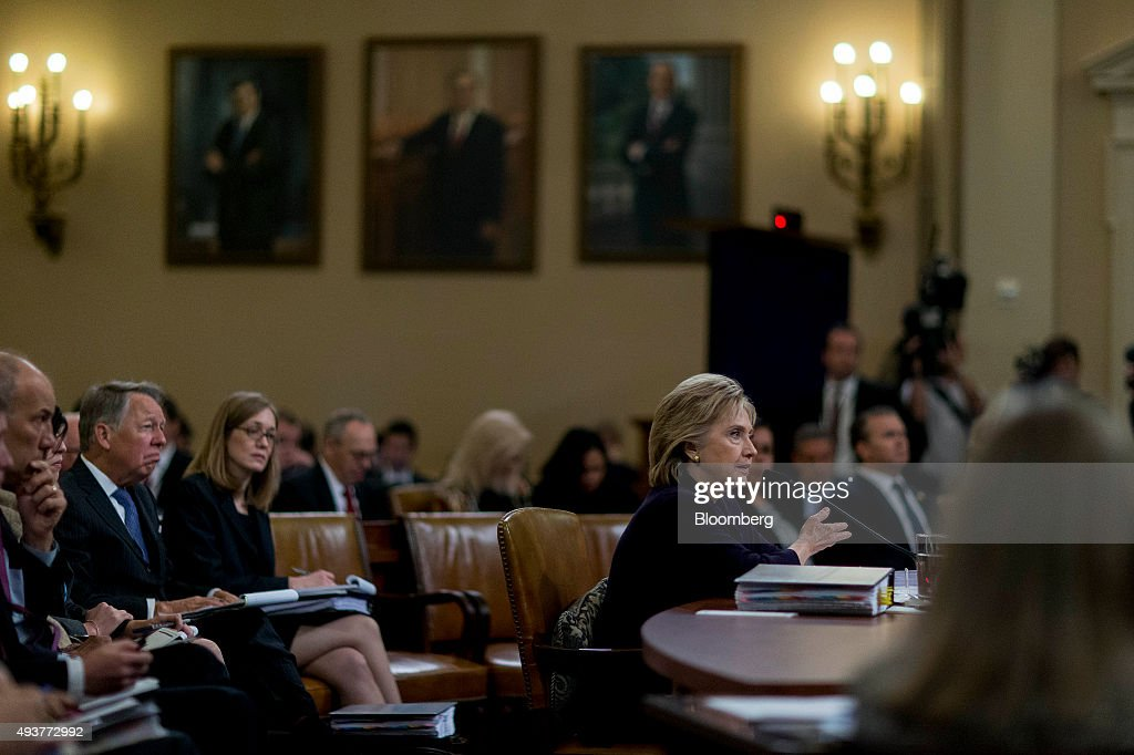 Hillary Clinton Testifies Before The House Select Committee on Benghazi : News Photo