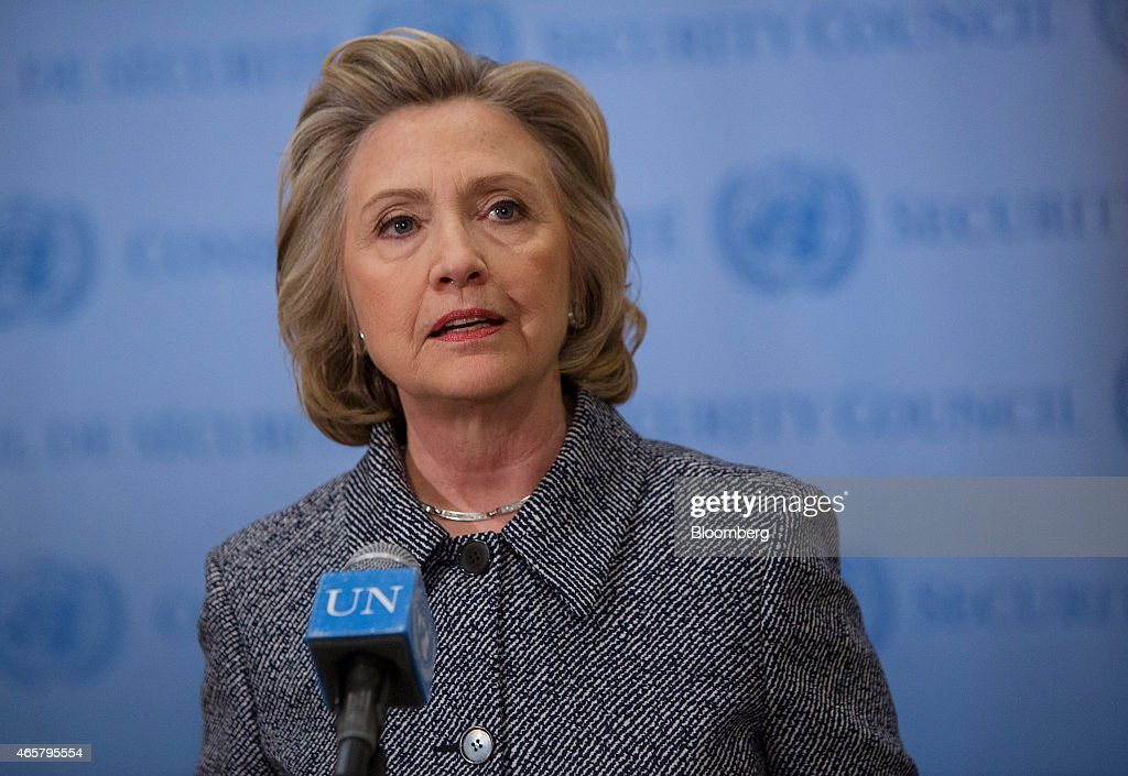 Hillary Clinton Says Her Use Of Private E-Mail Was Legal : News Photo