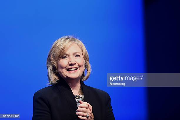 Hillary Clinton, former U.S. Secretary of state, speaks during the DreamForce Conference in San Francisco, California, U.S., on Tuesday, Oct. 14,...