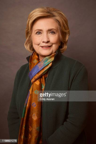 Hillary Clinton from Hillary poses for a portrait at the Pizza Hut Lounge on January 26 2020 in Park City Utah