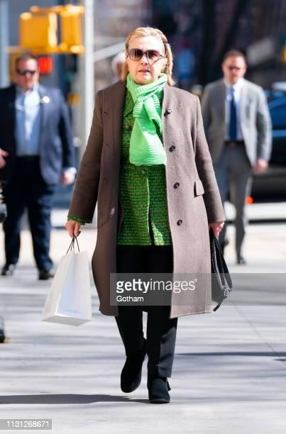 Hillary Clinton goes to brunch on March 17 2019 in New York City