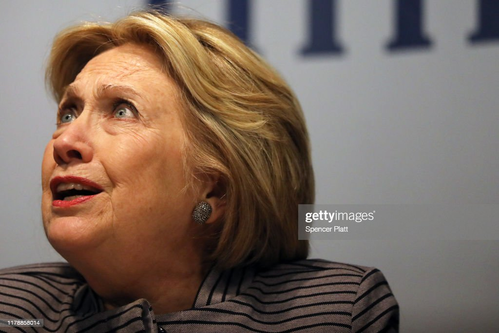 "Hillary And Chelsea Clinton Promote Their New Book ""The Book of Gutsy Women"" In New York : News Photo"