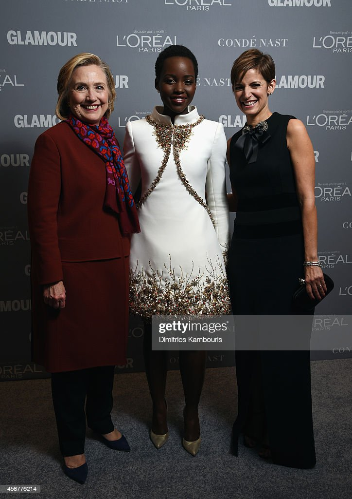 Hillary Clinton, Lupita Nyong'o and Cindi Leive attend the Glamour 2014 Women Of The Year Awards at Carnegie Hall on November 10, 2014 in New York City.