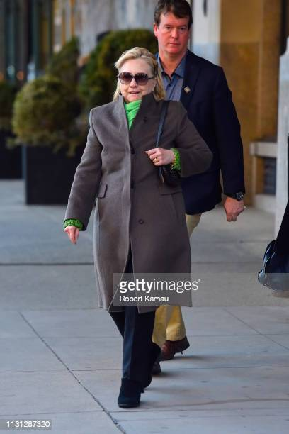 Hillary Clinton seen out and about in Manhattan on March 17 2019 in New York City