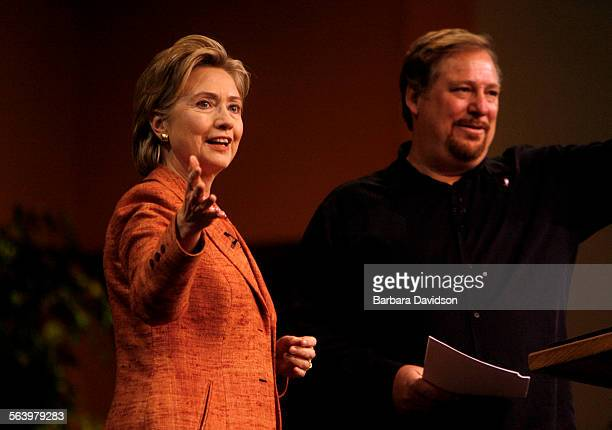Hillary Clinton spoke with pastor Rick Warren at the third annual Global Summit on AIDS and the Church at Saddleback Valley Community Church Nov 29...