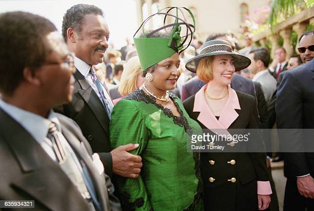 Hillary Clinton Winnie Mandela and Jesse Jackson at Inauguration