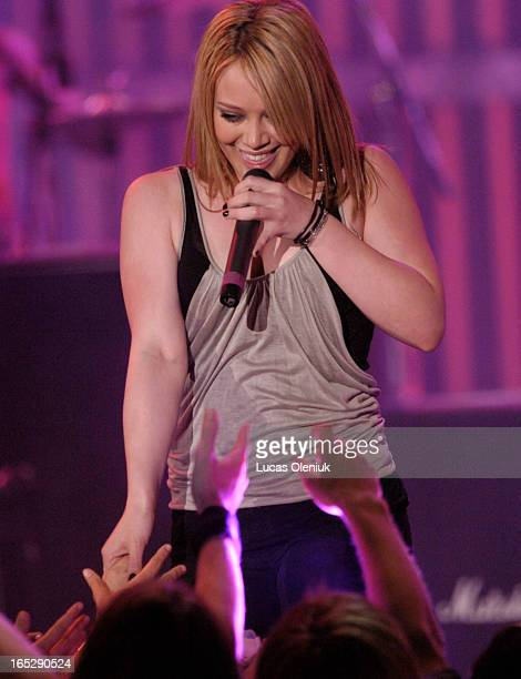 Hillary Duff performs at the 2004 MuchMusic Video Awards