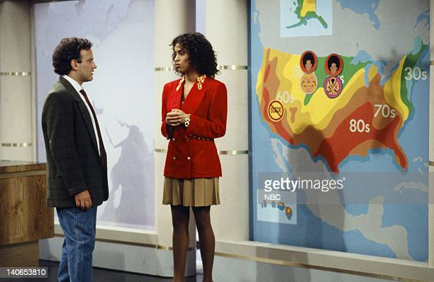 AIR 'Hillary Gets a Job' Episode 4 Pictured Ken Ober as Howard Karyn Parsons as Hilary Banks Photo by Joseph Del Valle/NBCU Photo Bank