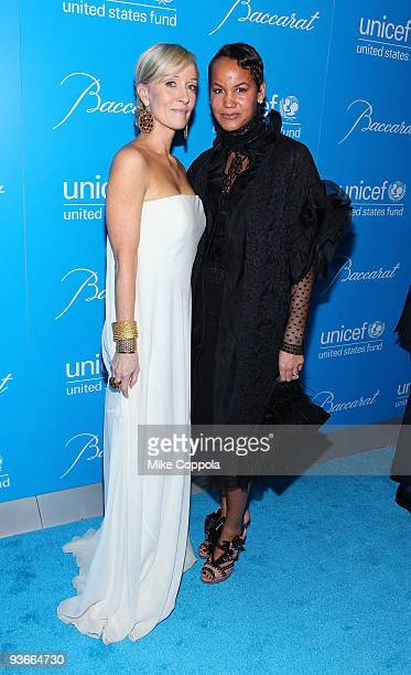 Hillary Gumbel and Erica Reid attends the 2009 UNICEF Snowflake Ball at Cipriani 42nd Street on December 2 2009 in New York City