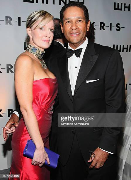 Hillary Gumbel and TV personality Bryant Gumbel arrive at 2007 Whitney Gala and Studio Party Shades of Gray Honoring Chuck Close at the Whitney...