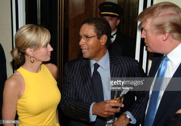 Hillary Gumbel Bryant Gumbel and Donald Trump during Donald Trump Hosts the Opening Night Reception of Veranda New York's Best at Trump Park Avenue...