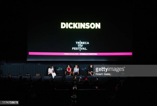 Hillary Kelly Alena Smith Hailee Steinfeld and Jane Krakowski attend the Dickinson screening during the 2019 Tribeca TV Festival at Regal Battery...