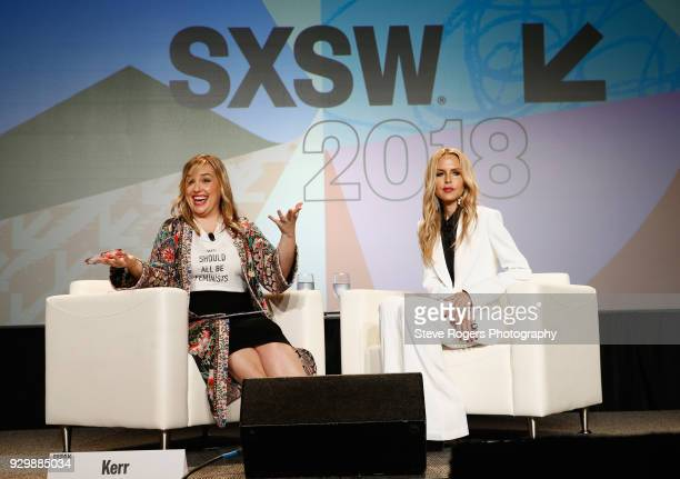 Hillary Kerr and Rachel Zoe speak onstage at Adaptability in Fashion's Changing Landscape during SXSW at Austin Convention Center on March 9 2018 in...