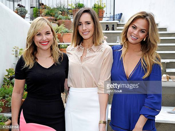 Hillary Kerr Louise Roe and Chrissy Teigen attend RAYE shoe launch event hosted by Chrissy Teigen and Hillary Kerr held At Ysabel on May 7 2015 in...