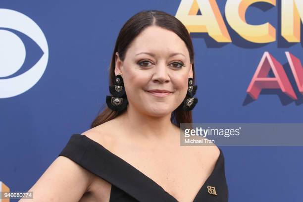 Hillary Lindsey attends the 53rd Academy of Country Music Awards at MGM Grand Garden Arena on April 15 2018 in Las Vegas Nevada