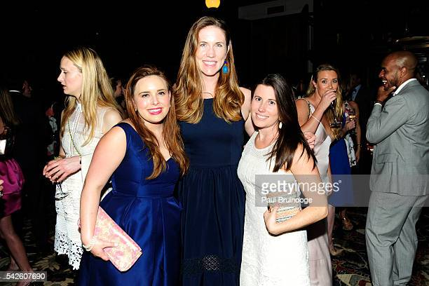 Hillary Mazanec Alexandra Vaughn and Kelly Stephens attend the Morgan Young Fellows Summer Soiree at The Morgan Library Museum on June 21 2016 in New...