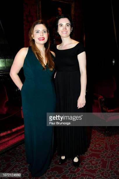 Hillary Mazanec and Claire Merril attend Mr Morgan's Winter Gala at The Morgan Library Museum on December 11 2018 in New York City