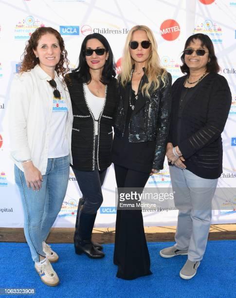 Hillary Milken Johnese Spisso MPA Rachel Zoe and Sherin U Devaskar MD attend the UCLA Mattel Children's Hospital's 19th Annual Party on the Pier at...