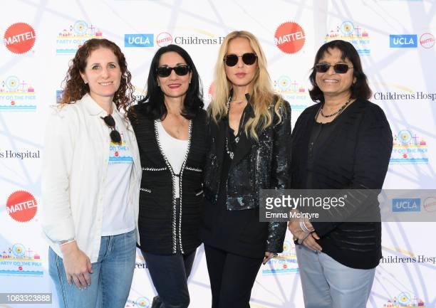 Hillary Milken Johnese Spisso Rachel Zoe and Sherin U Devaskar MD attend the UCLA Mattel Children's Hospital's 19th Annual Party on the Pier at Santa...