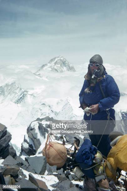 Hillary on the Southeast ridge at 27200 feet Nepal March 1953 Mount Everest Expedition 1953