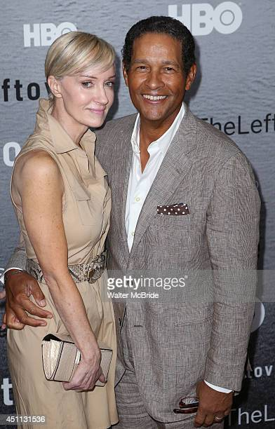 Hillary Quinlan and Bryant Gumbel attend The Leftovers premiere at NYU Skirball Center on June 23 2014 in New York City