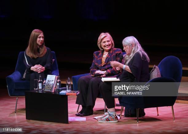 Hillary Rodham Clinton and Chelsea Clinton discuss The Book of Gutsy Women with British historian Mary Beard at Southbank Centre's Royal Festival...