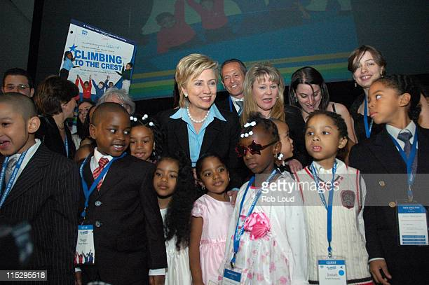 Hillary Rodham Clinton and UFT Elementary Charter School Students