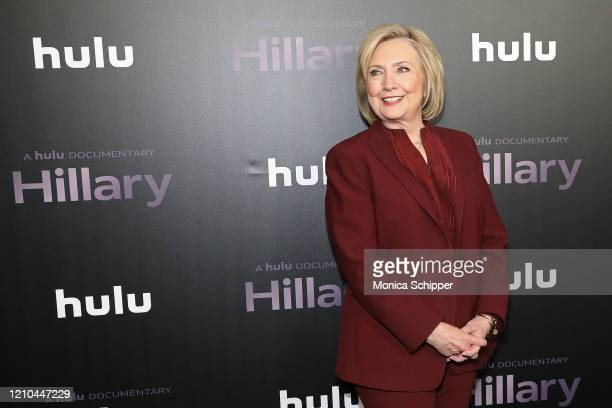 "Hillary Rodham Clinton attends Hulu's ""Hillary"" NYC Premiere on March 04, 2020 in New York City."