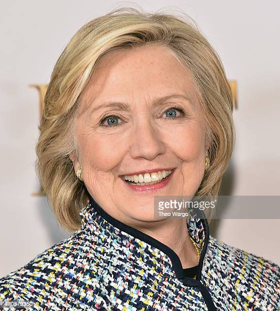 Hillary Rodham Clinton attends the 2015 DVF Awards at United Nations on April 23 2015 in New York City