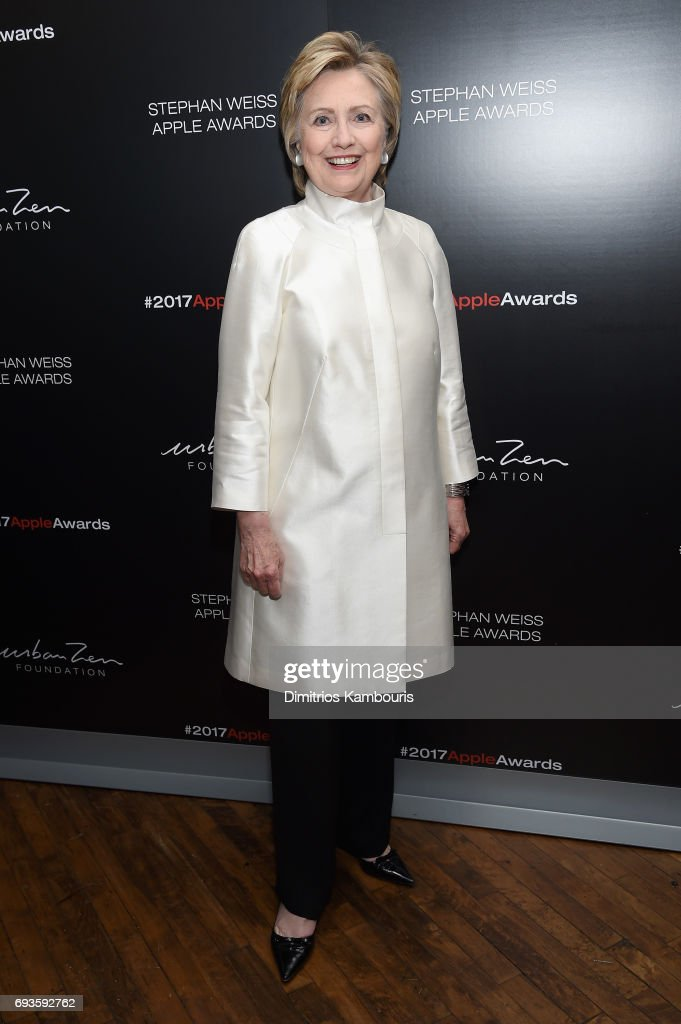 Hillary Rodham Clinton attends the 2017 Stephan Weiss Apple Awards on June 7, 2017 in New York City.