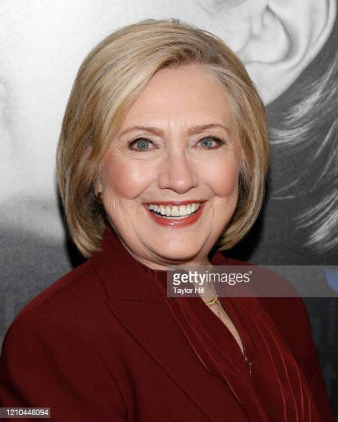 "Hillary Rodham Clinton attends the New York premiere of ""Hillary"" at Directors Guild of America Theater on March 04, 2020 in New York City."