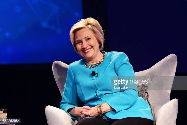 Hillary Rodham Clinton delivers keynote during the Geisinger National Symposium 'From Crisis to Cure Revitalizing America's Healthcare System' on...